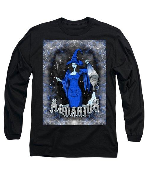 The Water Bearer Aquarius Spirit Long Sleeve T-Shirt