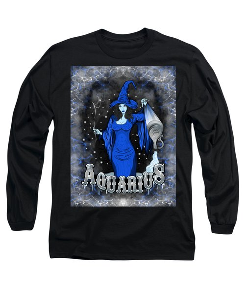 The Water Bearer Aquarius Spirit Long Sleeve T-Shirt