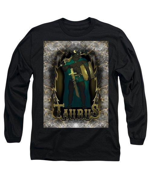 The Bull Taurus Spirit Long Sleeve T-Shirt