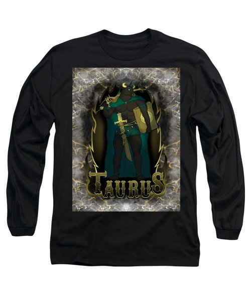The Bull Taurus Spirit Long Sleeve T-Shirt