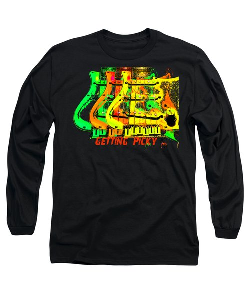 Long Sleeve T-Shirt featuring the photograph Triple Pickguards by Guitar Wacky