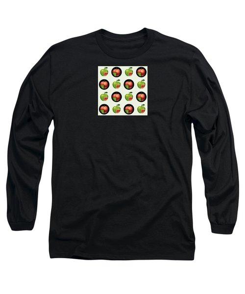 Divided Apple Pattern Long Sleeve T-Shirt