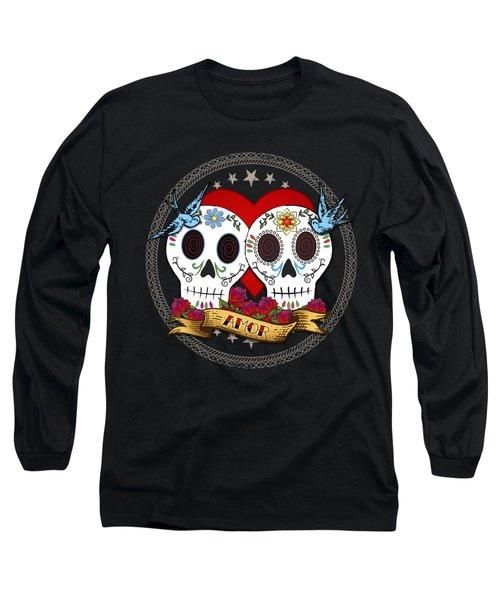 Love Skulls II Long Sleeve T-Shirt