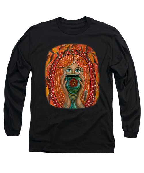 Long Sleeve T-Shirt featuring the painting OM by Deborha Kerr