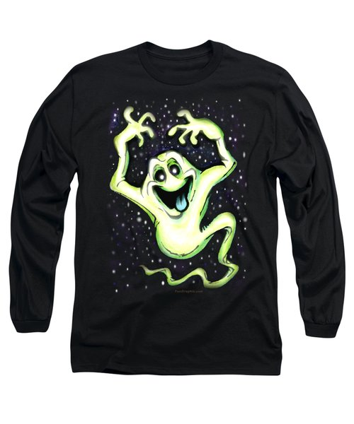 Ghost Long Sleeve T-Shirt by Kevin Middleton