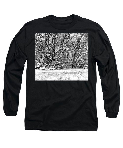 Three Tires And A Snowstorm Long Sleeve T-Shirt