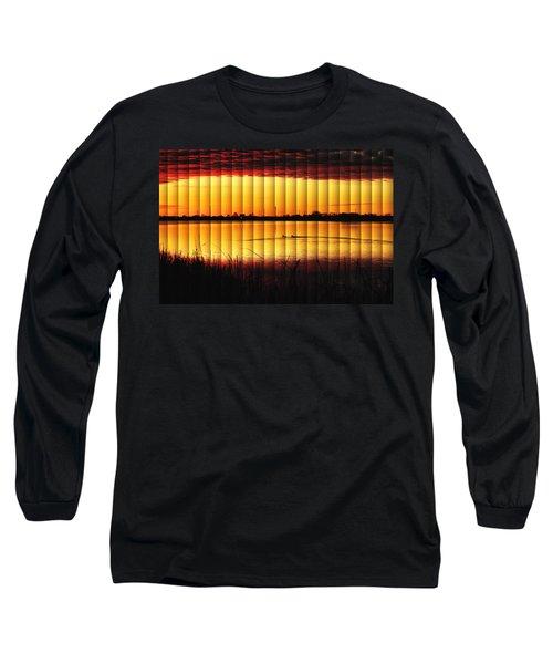 Magnificent Sunrise Swim Long Sleeve T-Shirt