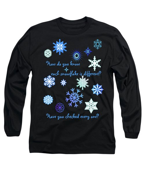 Snowflakes 2 Long Sleeve T-Shirt by Methune Hively