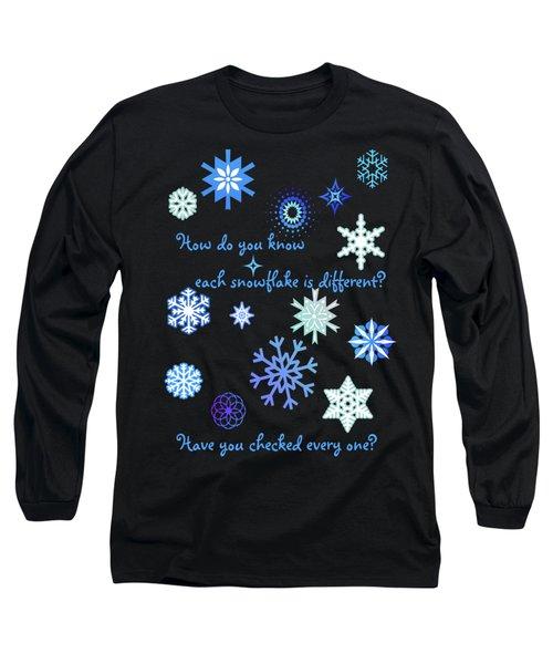 Snowflakes 2 Long Sleeve T-Shirt