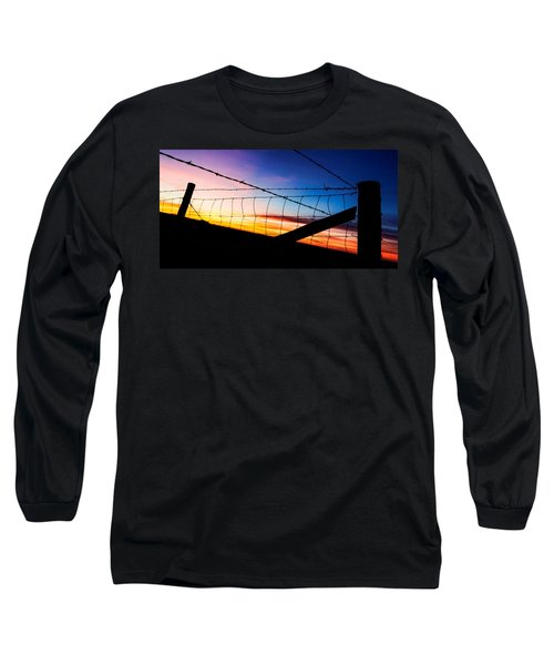 Hilltop Sunset Long Sleeve T-Shirt by Bill Kesler