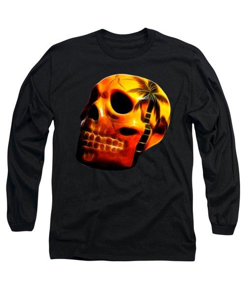 Glowing Skull Long Sleeve T-Shirt