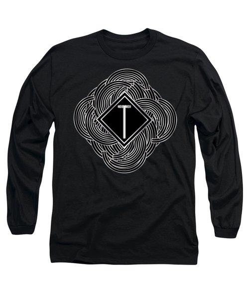 Deco Jazz Swing Monogram ...letter T Long Sleeve T-Shirt