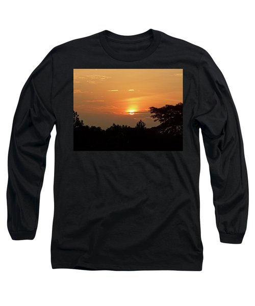 As The Sun Sets ... Orange Long Sleeve T-Shirt