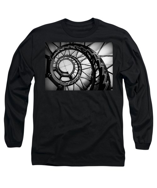 Ascend - Black And White Long Sleeve T-Shirt