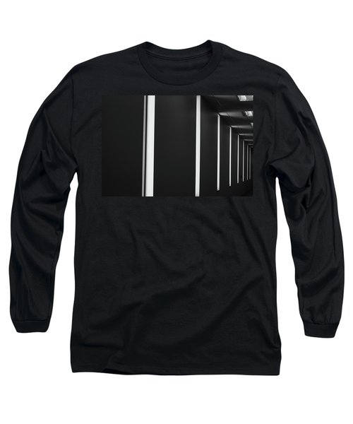 Asheville Abstract  Long Sleeve T-Shirt by Gray  Artus