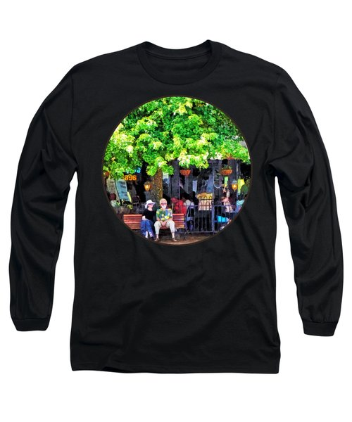 Asheville Nc Outdoor Cafe Long Sleeve T-Shirt by Susan Savad