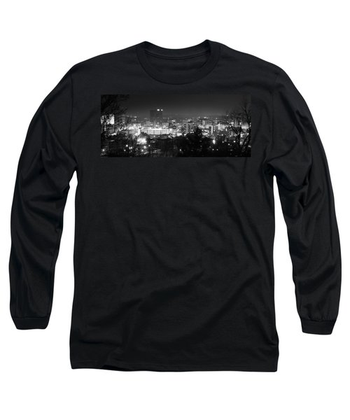 Asheville North Carolina Skyline Long Sleeve T-Shirt