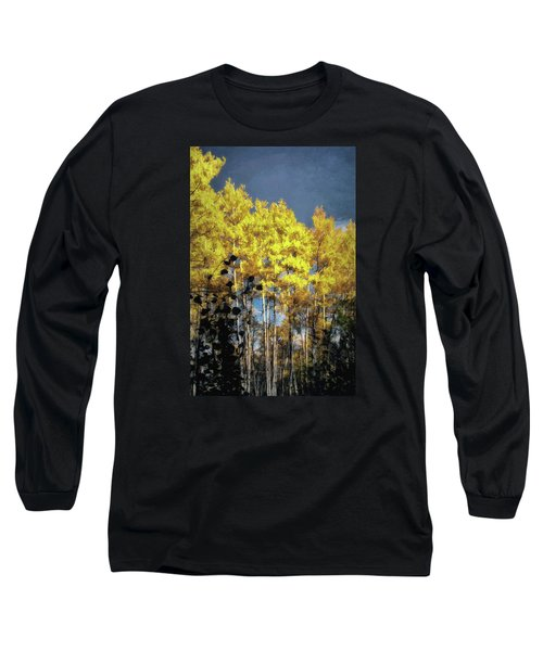 Long Sleeve T-Shirt featuring the photograph Aspen Impressions by Jim Hill
