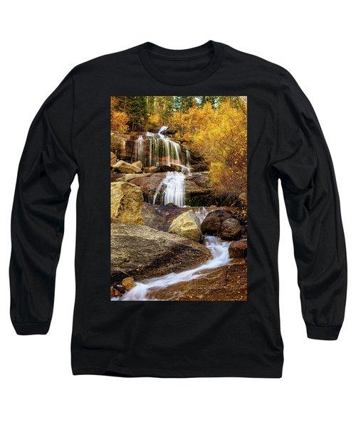 Aspen-lined Waterfalls Long Sleeve T-Shirt