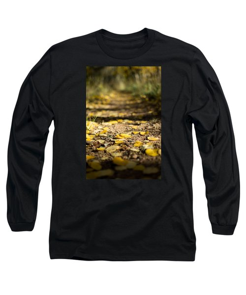 Aspen Leaves On Trail Long Sleeve T-Shirt