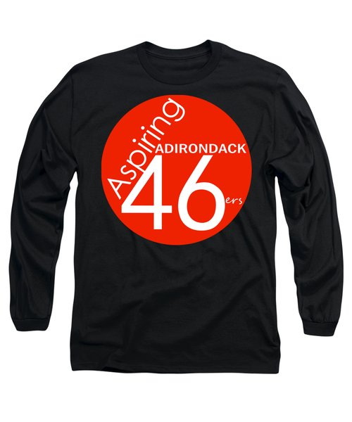 Aspiring Adirondack 46ers Trail Marker Long Sleeve T-Shirt by Michael French