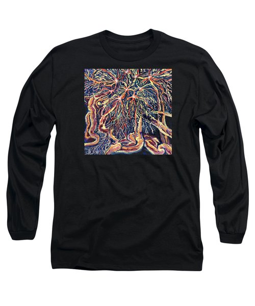 Astrocytes Microbiology Landscapes Series Long Sleeve T-Shirt by Emily McLaughlin