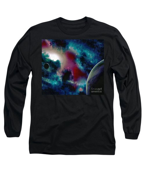 Astronomy Painting Glammed Out Teal Long Sleeve T-Shirt