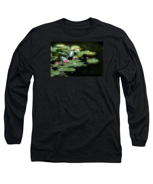 Long Sleeve T-Shirt featuring the photograph At Claude Monet's Water Garden 11 by Dubi Roman