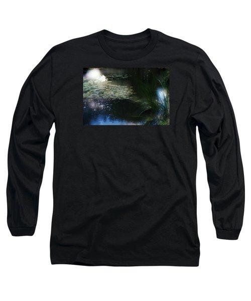 Long Sleeve T-Shirt featuring the photograph At Claude Monet's Water Garden 3 by Dubi Roman