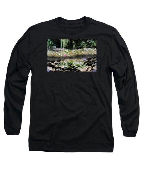 Long Sleeve T-Shirt featuring the photograph At Claude Monet's Water Garden 9 by Dubi Roman