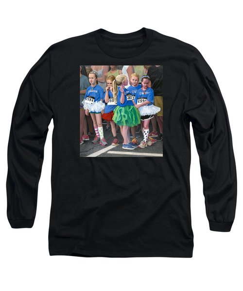 At The Start Of Their Run Long Sleeve T-Shirt by Mark Lunde