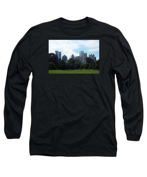 Long Sleeve T-Shirt featuring the photograph Atlanta Skyline by Jake Hartz
