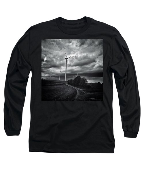 Atomlos Durch Die Nacht... #landschaft Long Sleeve T-Shirt