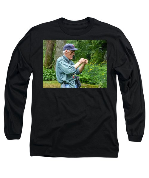 Attaching The Lure Up Close Long Sleeve T-Shirt