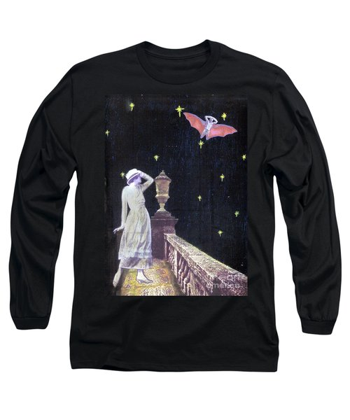 Long Sleeve T-Shirt featuring the mixed media Attempted Pick Up by Desiree Paquette