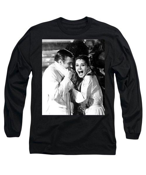 Audrey Hepburn As Holly Golightly Long Sleeve T-Shirt