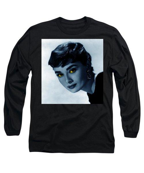 Audrey In Blue Long Sleeve T-Shirt