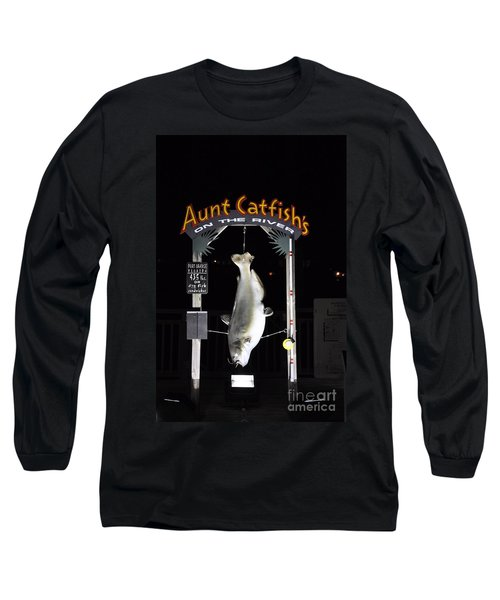 Long Sleeve T-Shirt featuring the photograph Aunt Catfish by John Black