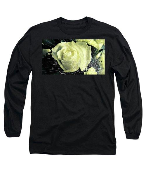 Aunt Edna's Rose Long Sleeve T-Shirt by Rachel Hannah