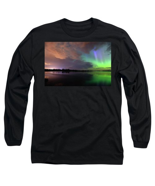 Aurora And Storm Clouds Long Sleeve T-Shirt