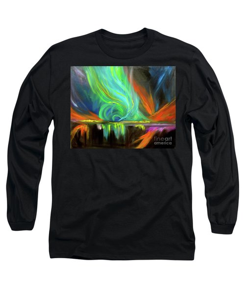 Aurora Borealis Long Sleeve T-Shirt by Jenny Lee