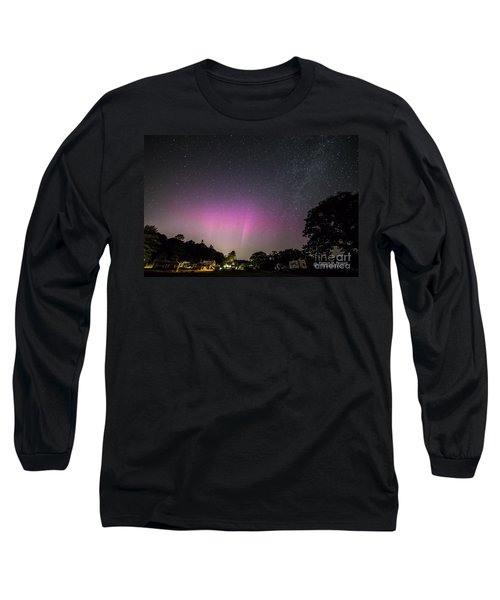 Aurora Over Sagadahoc Bay Campground Long Sleeve T-Shirt