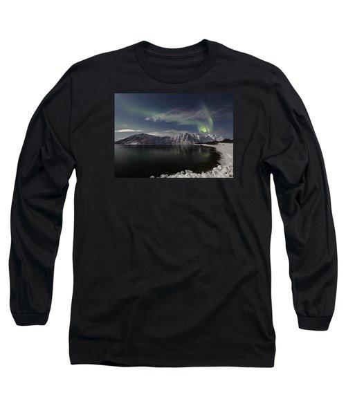 Auroras Over The Bay Long Sleeve T-Shirt
