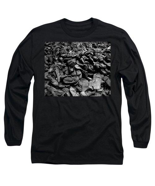 Auschwitz-birkenau Shoes Long Sleeve T-Shirt by RicardMN Photography