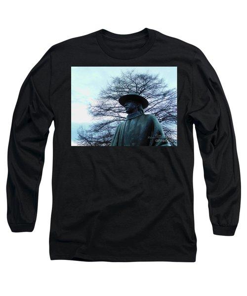 Austin Hike And Bike Trail - Iconic Austin Statue Stevie Ray Vaughn - Two Long Sleeve T-Shirt by Felipe Adan Lerma