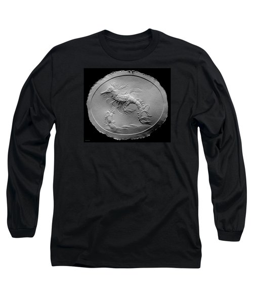 Long Sleeve T-Shirt featuring the relief Australian Reef Sea Horse by Suhas Tavkar