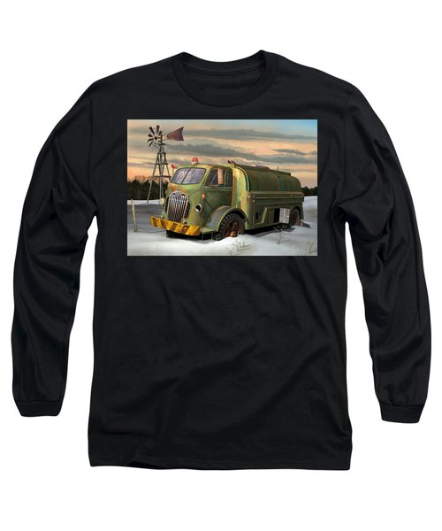Autocar Waterwagon Long Sleeve T-Shirt by Stuart Swartz