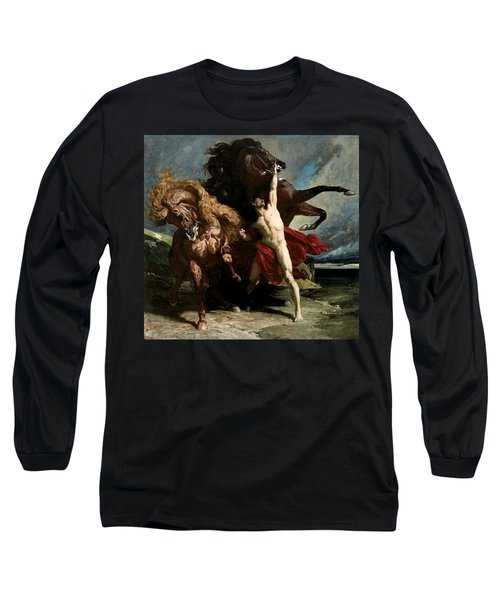 Automedon With The Horses Of Achilles Long Sleeve T-Shirt