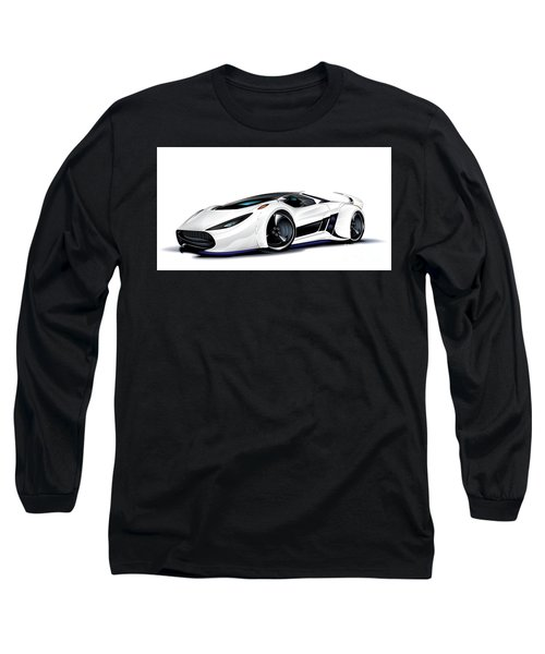 Long Sleeve T-Shirt featuring the drawing Automobili Lamborghini Concept by Brian Gibbs