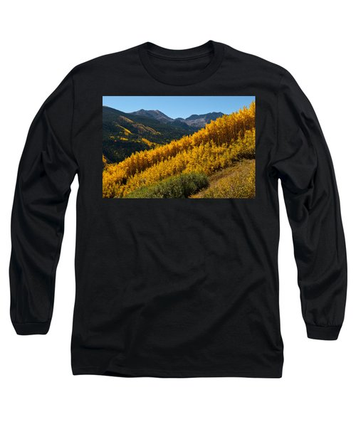 Autumn Aspen Near Castle Creek Long Sleeve T-Shirt